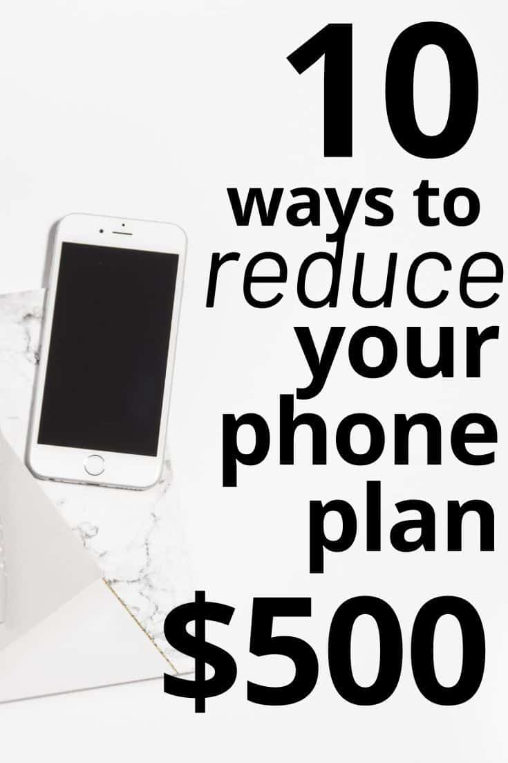 Reduce Your Phone Plan Up to $500 Per Year